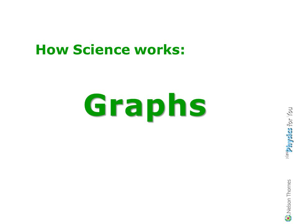 How Science works:Graphs