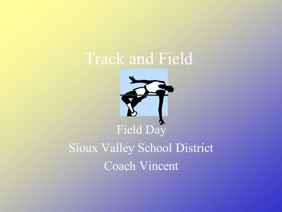 Track and Field Field Day Sioux Valley School District Coach Vincent