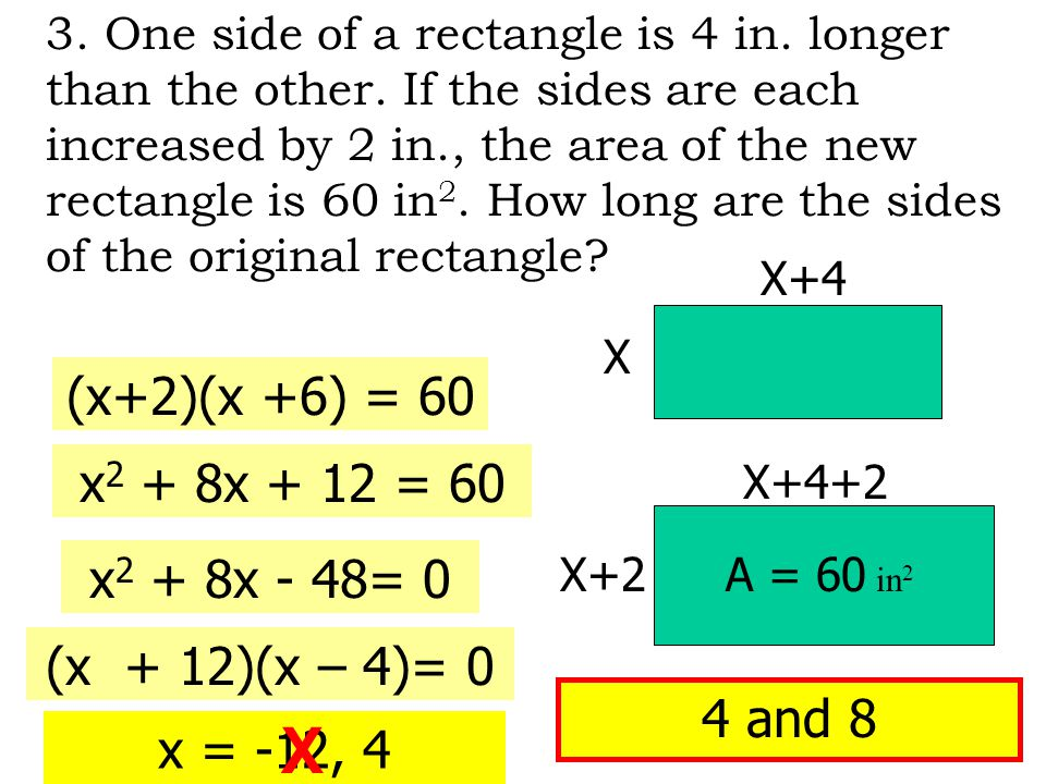 4.The sum of the squares of two consecutive even integers is 244.