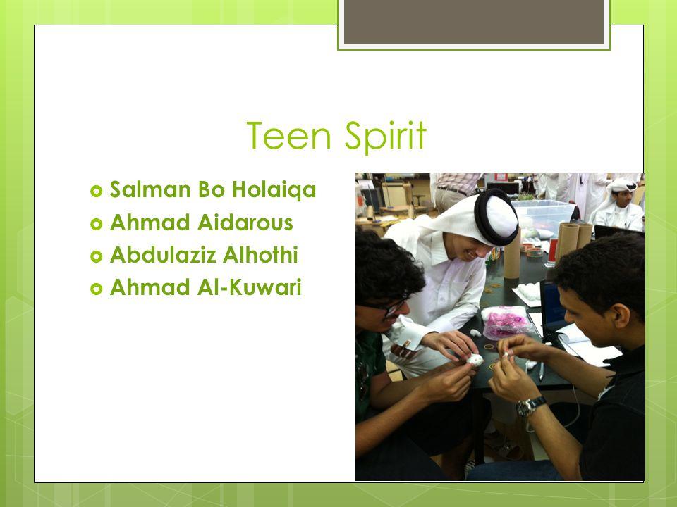 Teen Spirit  Salman Bo Holaiqa  Ahmad Aidarous  Abdulaziz Alhothi  Ahmad Al-Kuwari