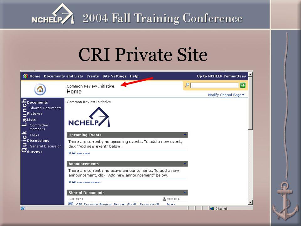CRI Private Site