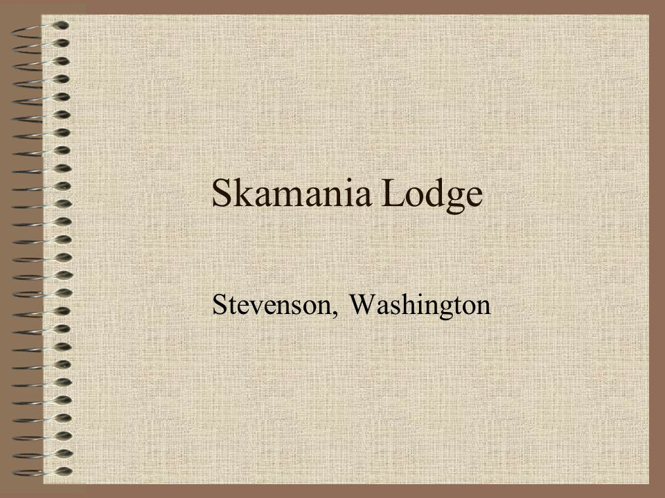 Skamania Lodge Stevenson, Washington