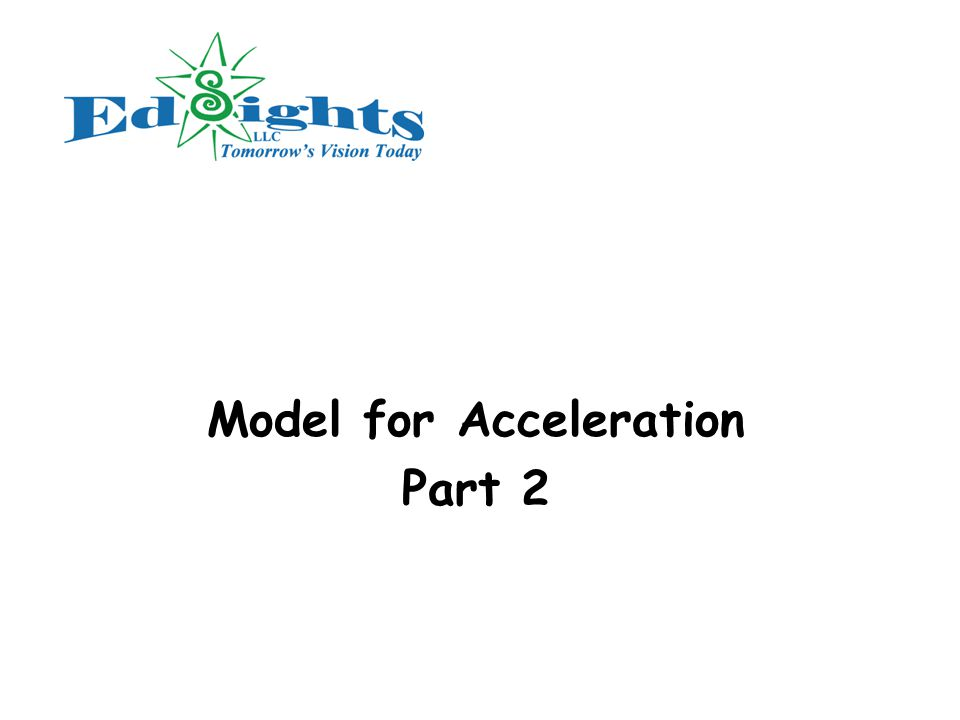 Model for Acceleration Part 2