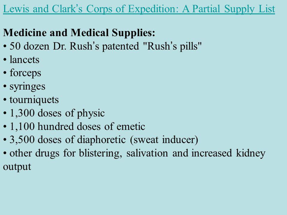 Medicine and Medical Supplies: 50 dozen Dr.