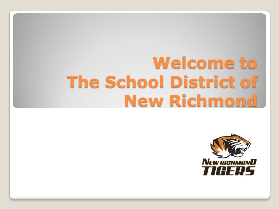 Welcome to The School District of New Richmond