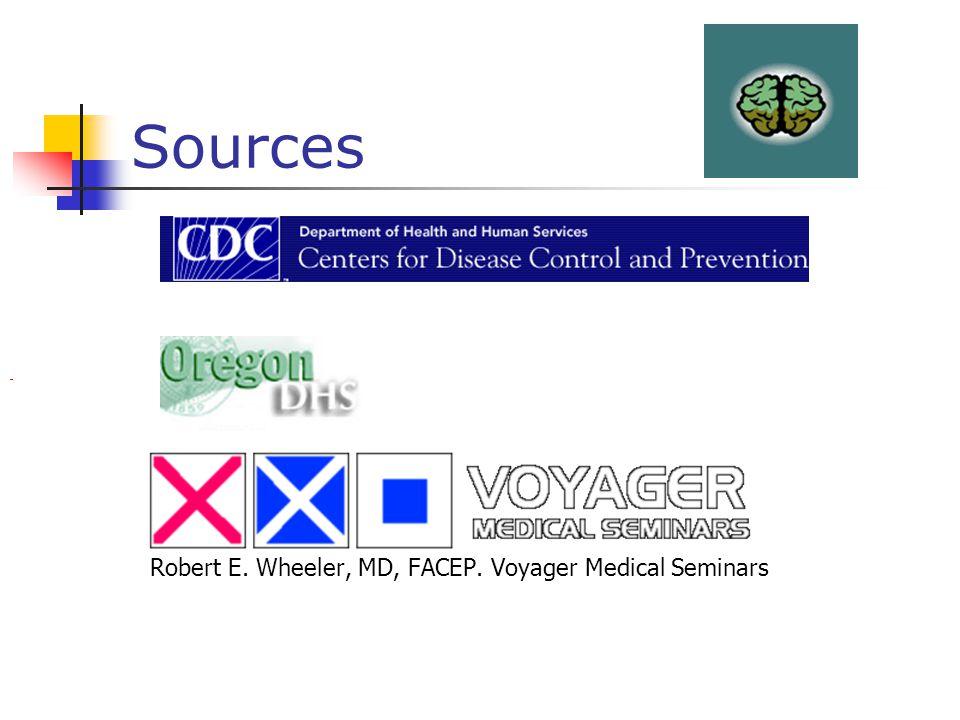 Sources Robert E. Wheeler, MD, FACEP. Voyager Medical Seminars