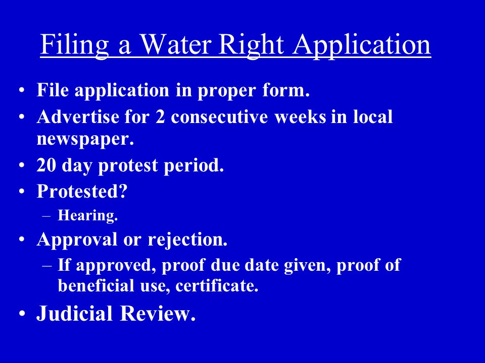 Approval Criteria (73-3-8) Unappropriated water in source.