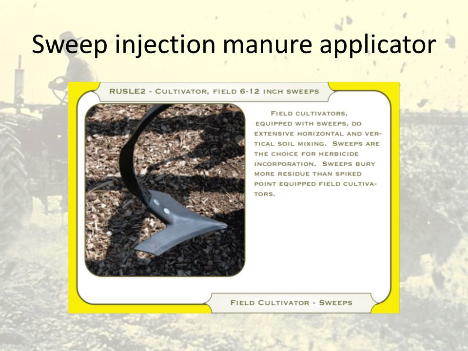Sweep injection manure applicator