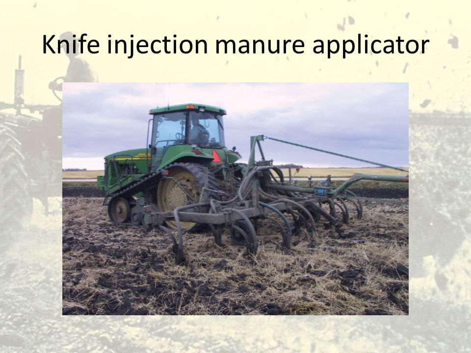 Knife injection manure applicator