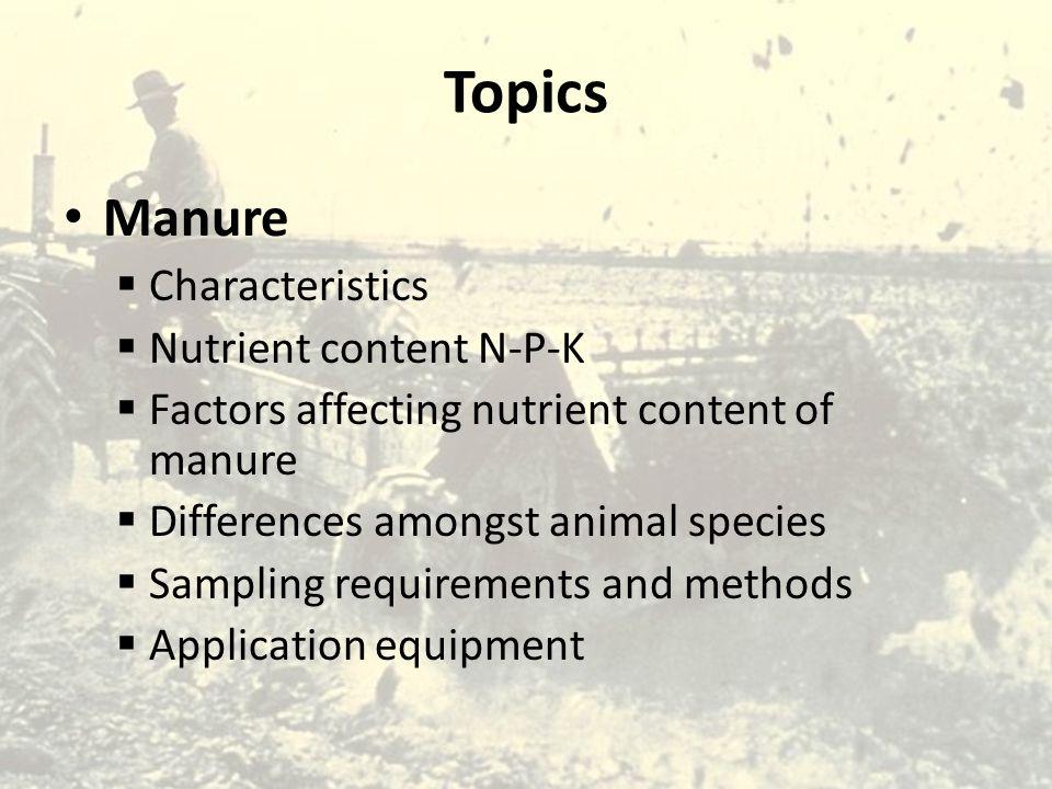 Manure Nutrients Short Form