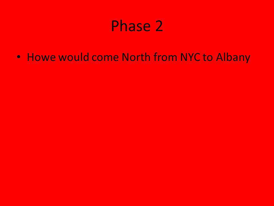 Phase 2 Howe would come North from NYC to Albany