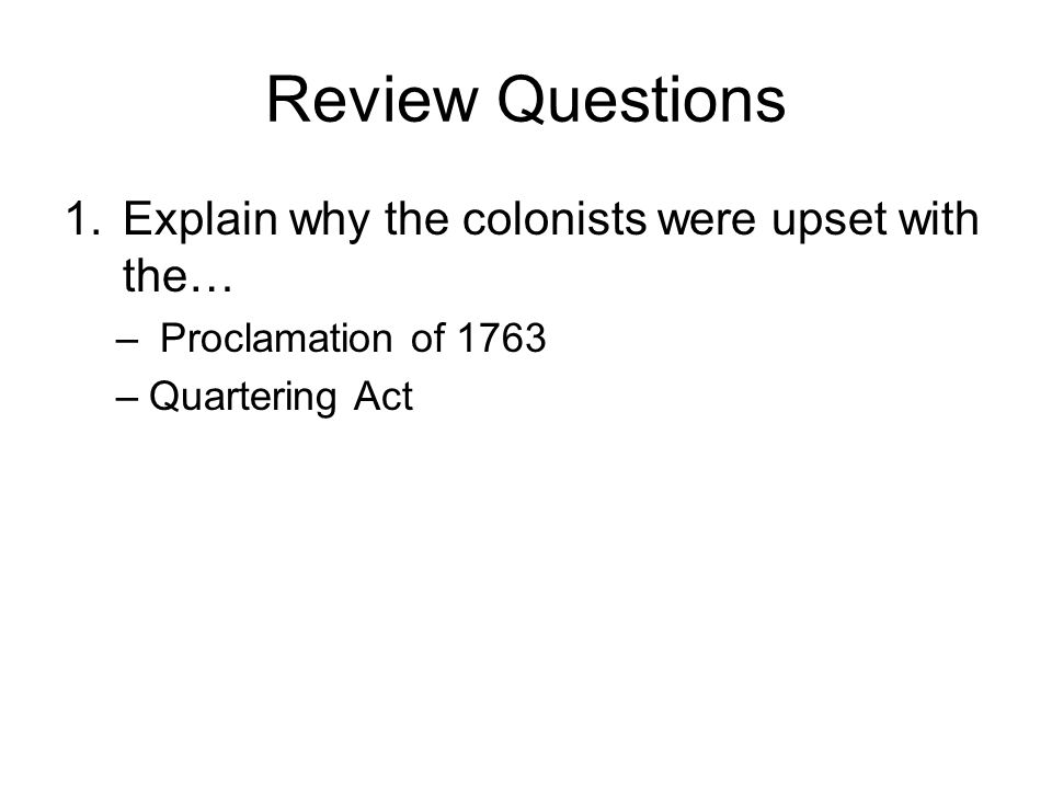 V. Declaratory Act A new act is issued, The Declaratory Act, stating Parliament had the supreme authority to govern the colonies.