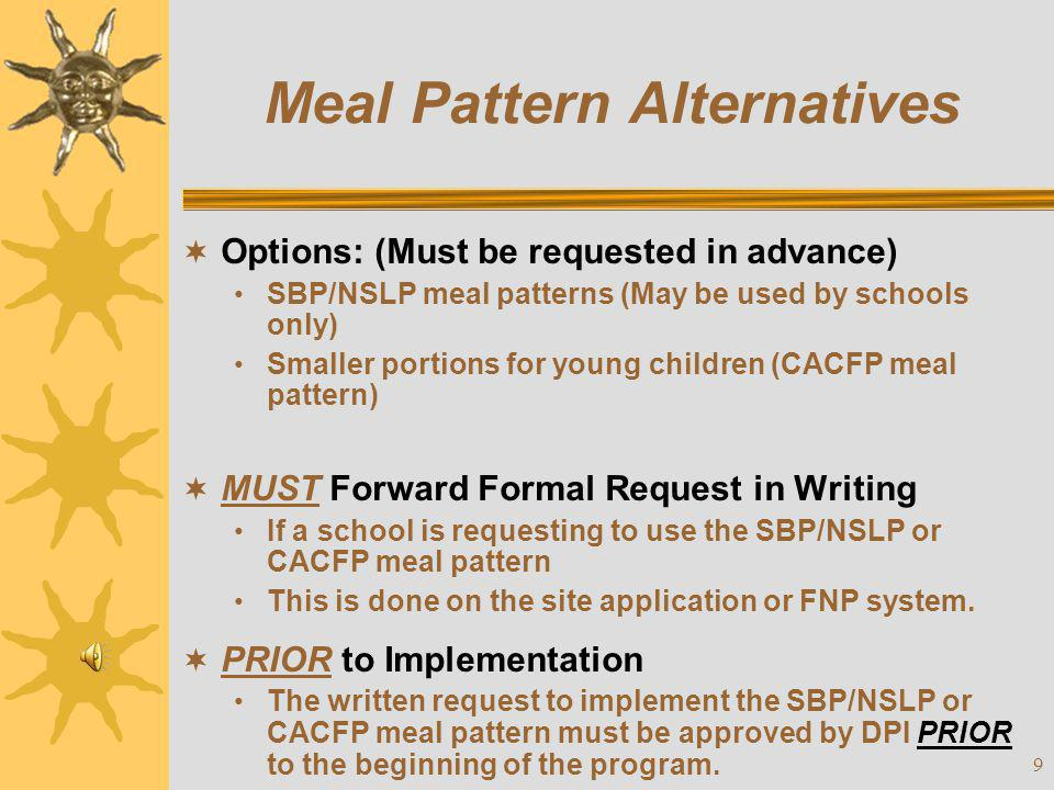 30 Infant Feeding  Infant: Until Day of 1 st Birthday  Contact State Agency –Prior approval is required.