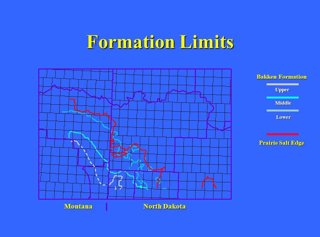 Formation Limits Montana North Dakota Bakken Formation Upper Middle Lower Prairie Salt Edge