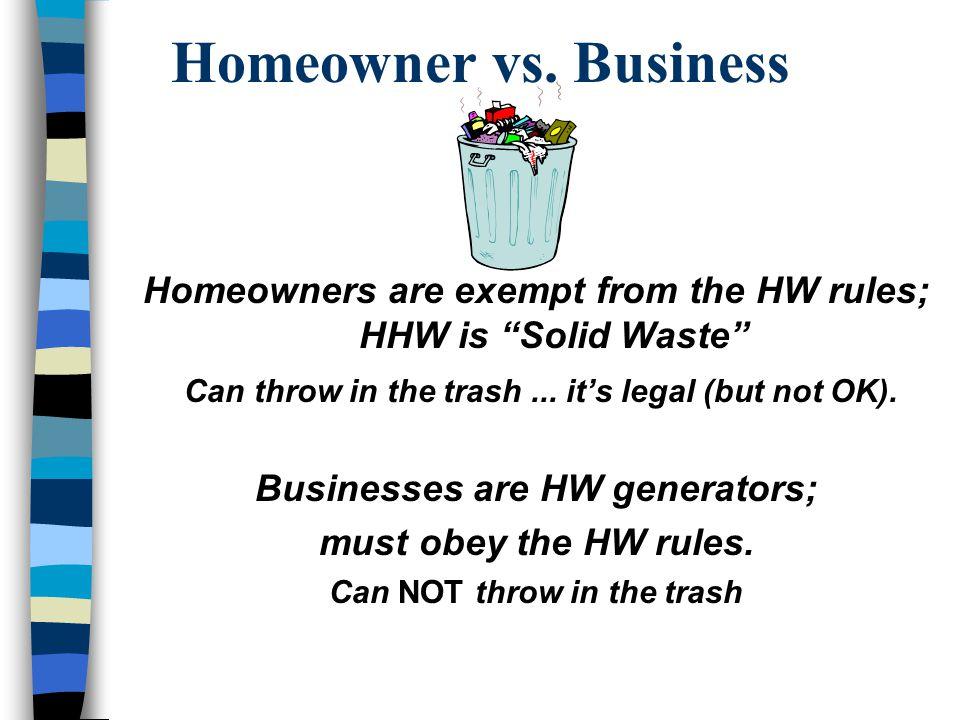 Homeowner vs.