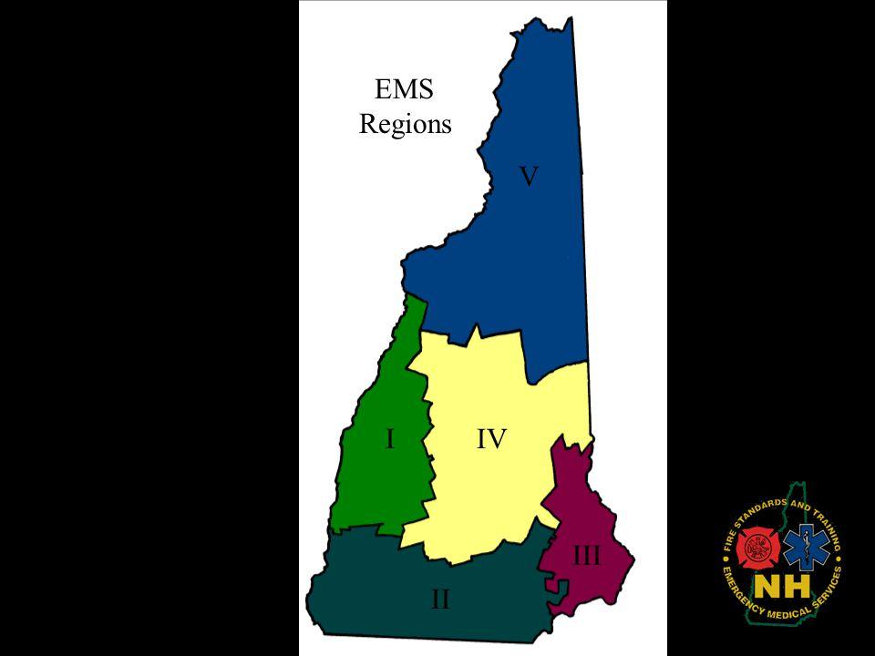 II I III IV V EMS Regions