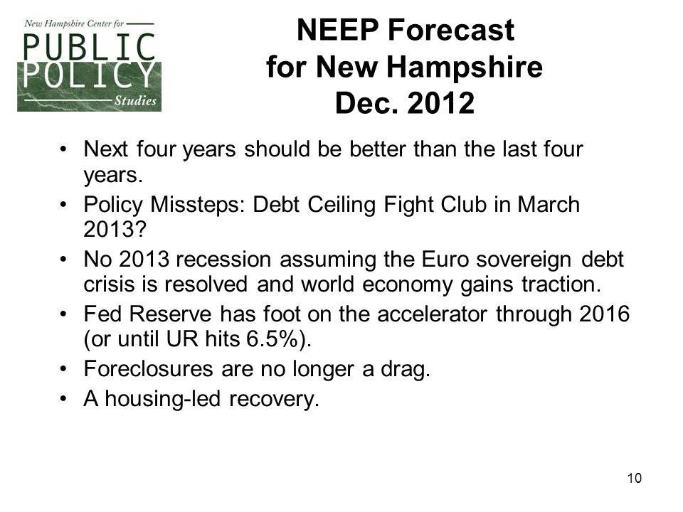 10 NEEP Forecast for New Hampshire Dec.