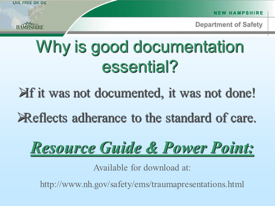 Why is good documentation essential.