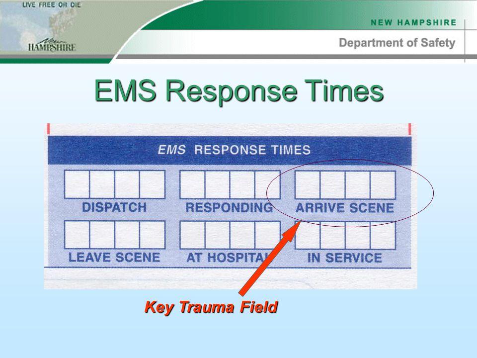 EMS Response Times Key Trauma Field