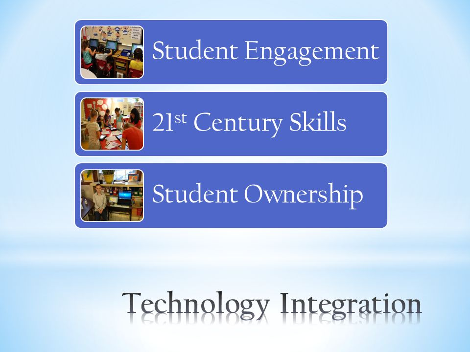  More and more studies show that technology integration in the curriculum improves students learning processes and outcomes.