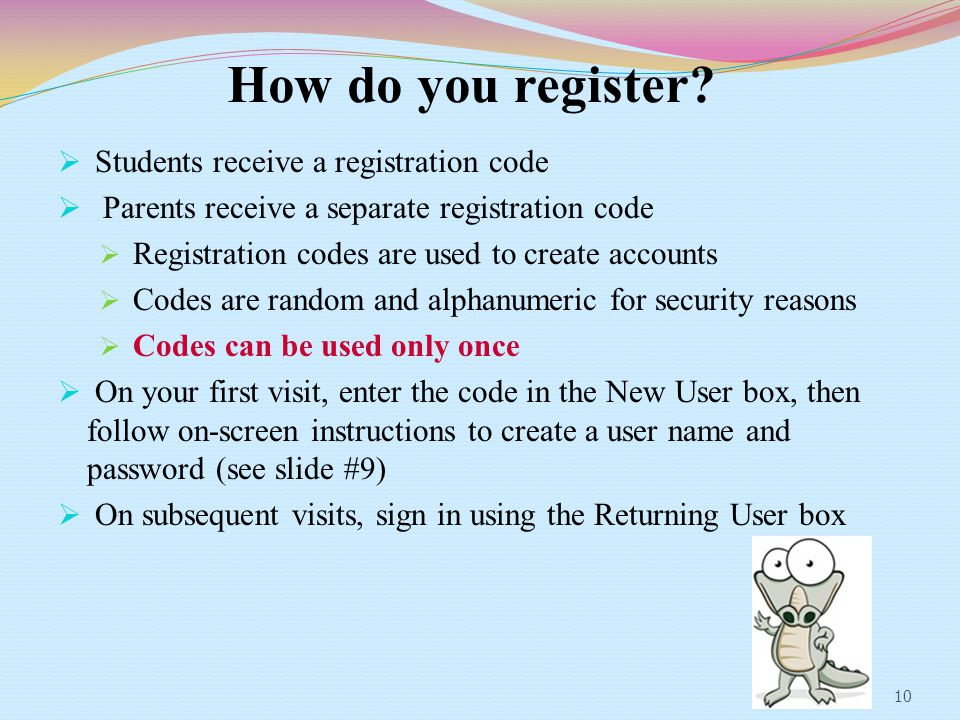How do you register.