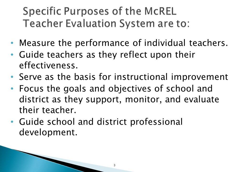 Measure the performance of individual teachers.