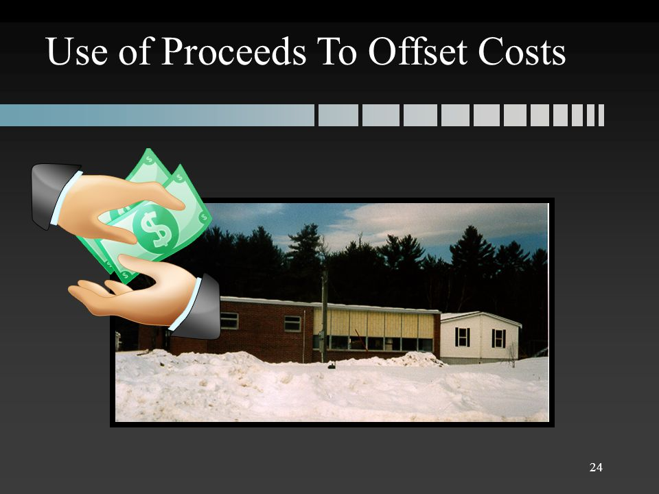 Use of Proceeds To Offset Costs 24