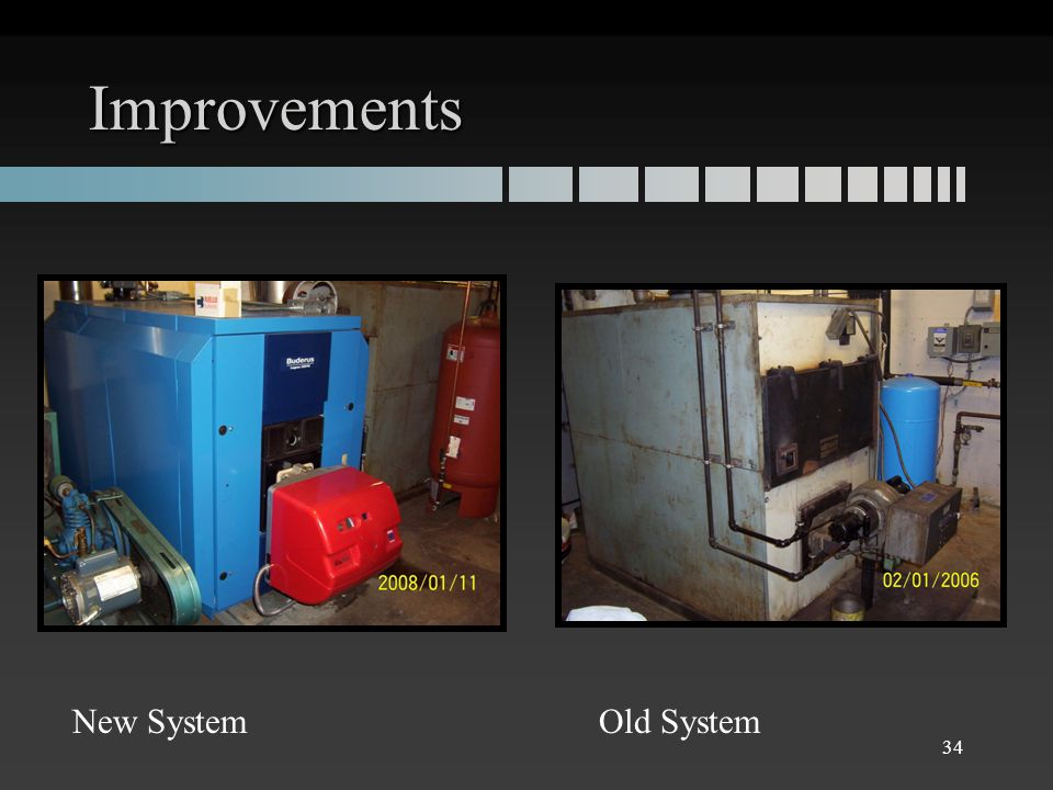 Improvements 34 New SystemOld System
