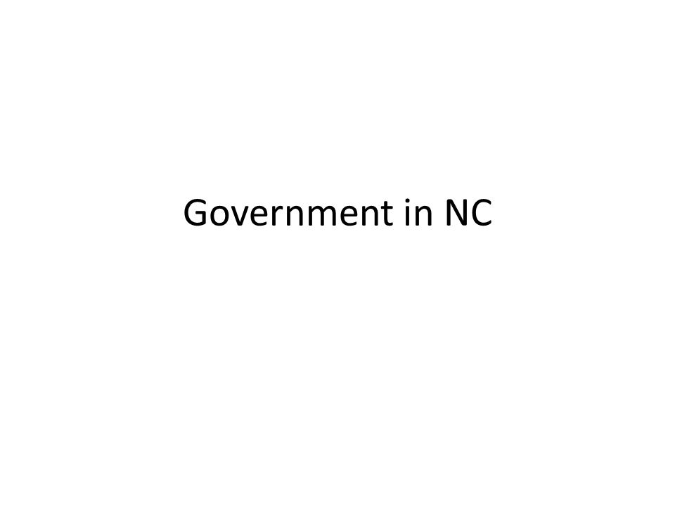 Government in NC
