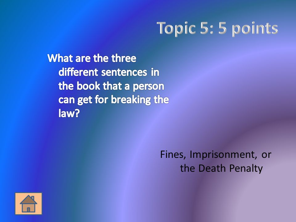 Fines, Imprisonment, or the Death Penalty