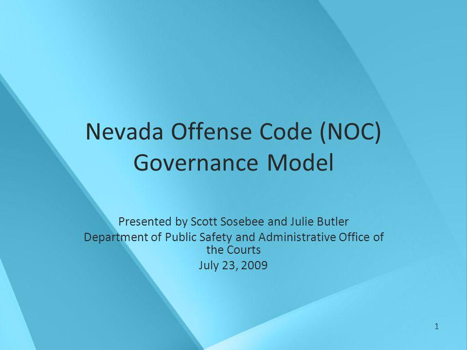 12 Proposed NOC Governance Model