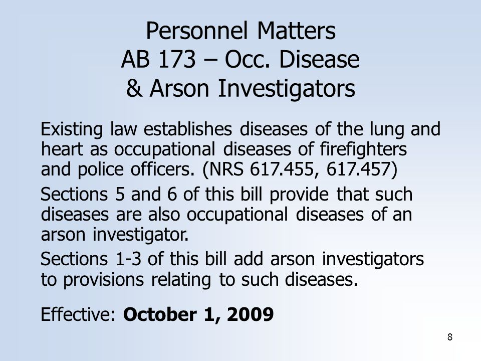 8 Personnel Matters AB 173 – Occ.