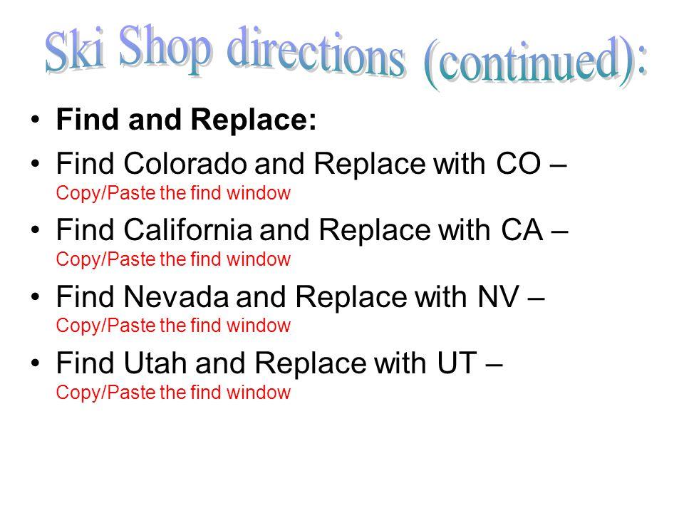 Run a query for all stores in CO (Colorado).