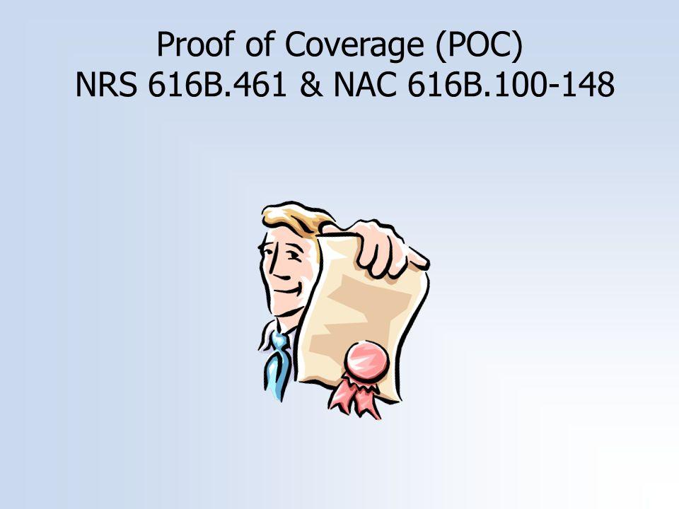 Proof of Coverage (POC) NRS 616B.461 & NAC 616B.100-148