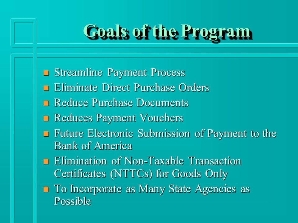 P-Card Benefits n Quicker Payment to Vendors n Reduces Preparation of Individual Purchase Orders and Payment Vouchers n Procurement Items are Received Immediately n Rebates for the State of New Mexico n 1099 Reporting Form for P-Card is no Longer Required