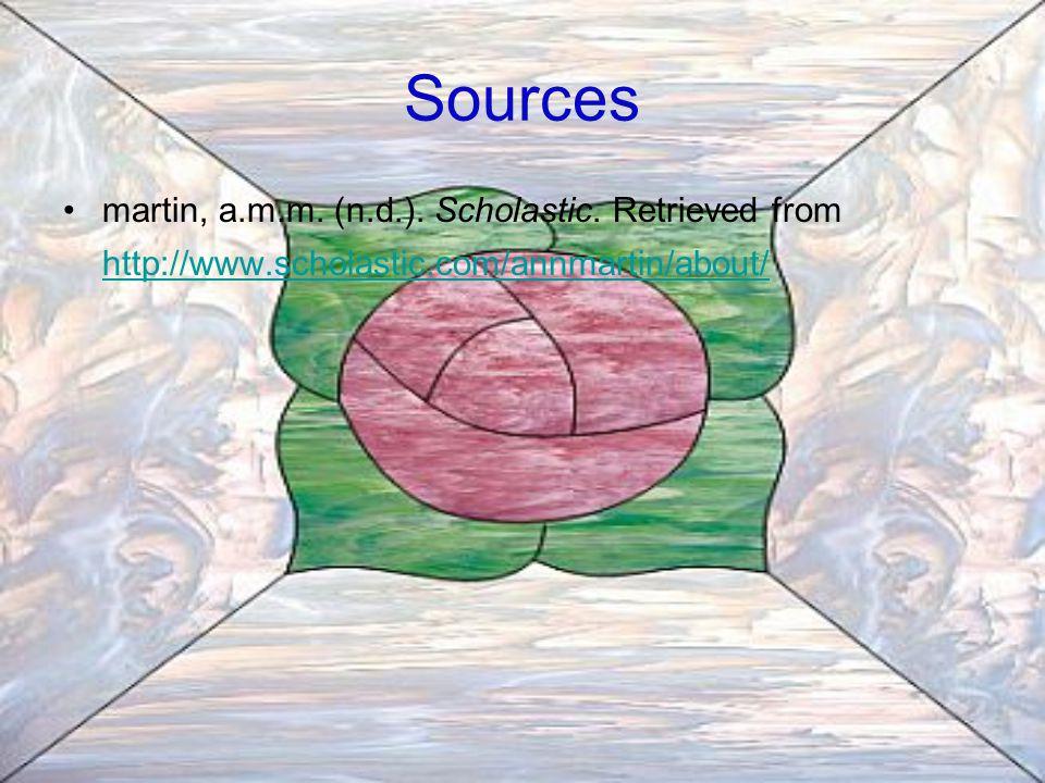 Sources martin, a.m.m. (n.d.). Scholastic.