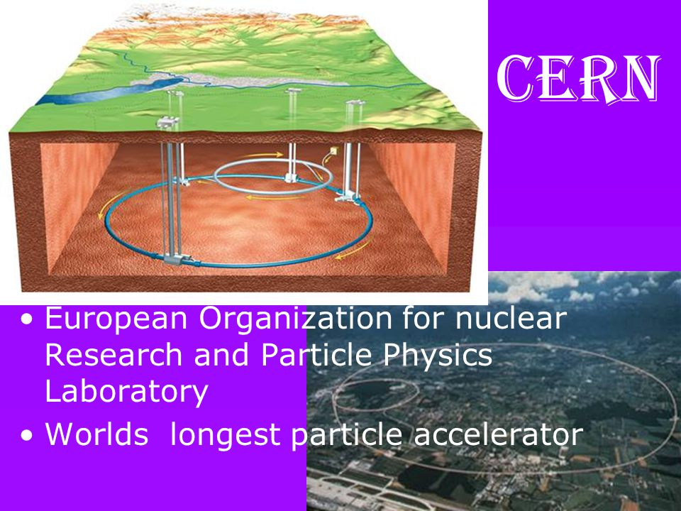 CERN European Organization for nuclear Research and Particle Physics Laboratory Worlds longest particle accelerator