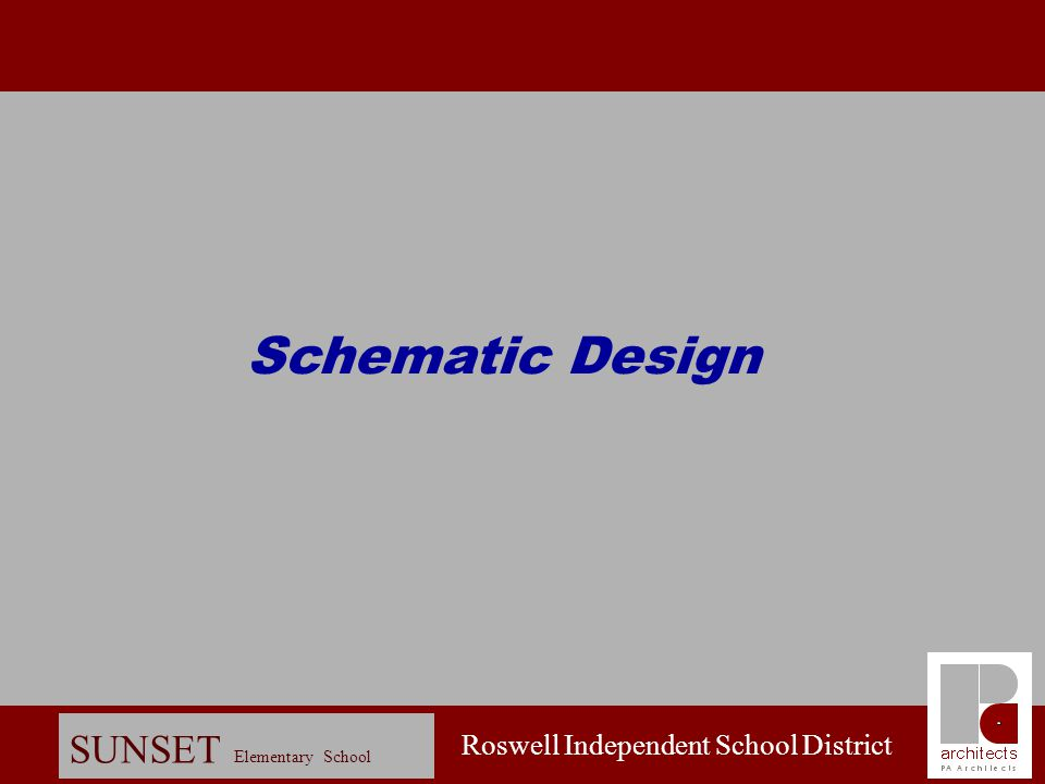 Roswell Independent School District SUNSET Elementary School Design Charette: Site Plan - Approved Scheme