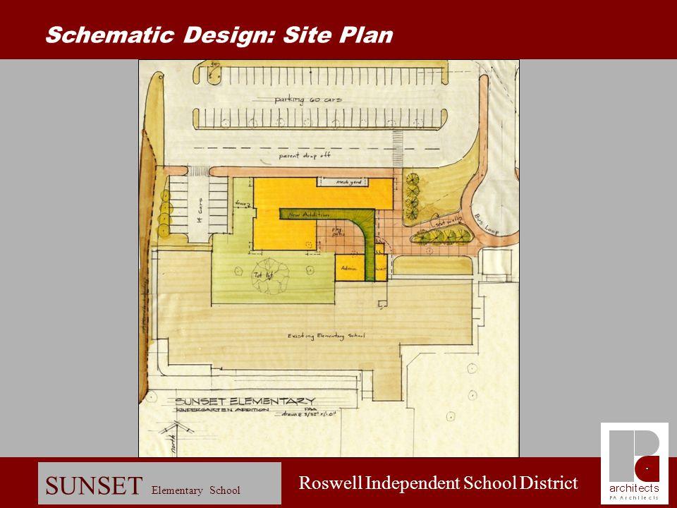 Roswell Independent School District SUNSET Elementary School Schematic Design