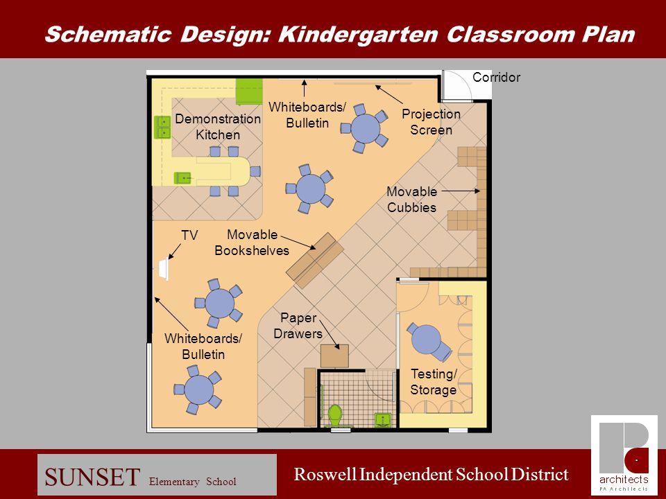 Roswell Independent School District SUNSET Elementary School Schematic Design: Floor Plan