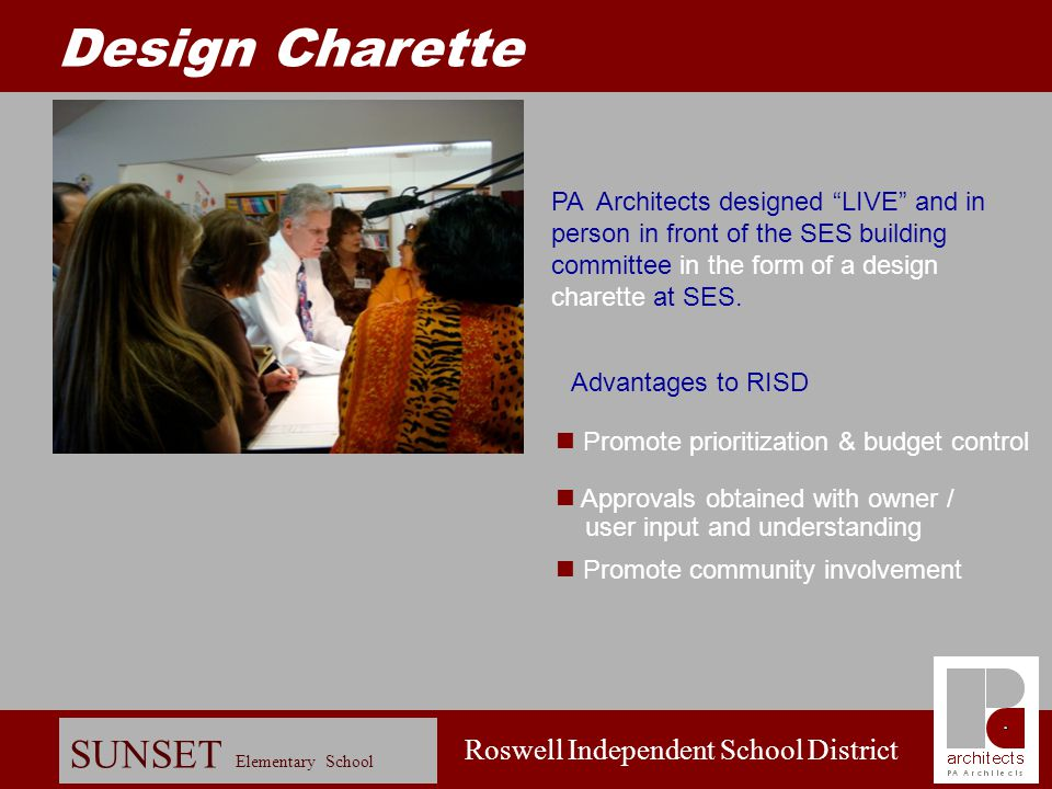 Roswell Independent School District SUNSET Elementary School Schematic Design: Process Sketch