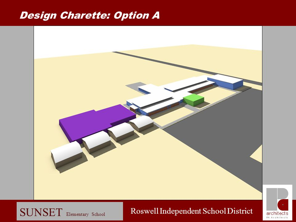 Roswell Independent School District SUNSET Elementary School Schematic Design: Entry View