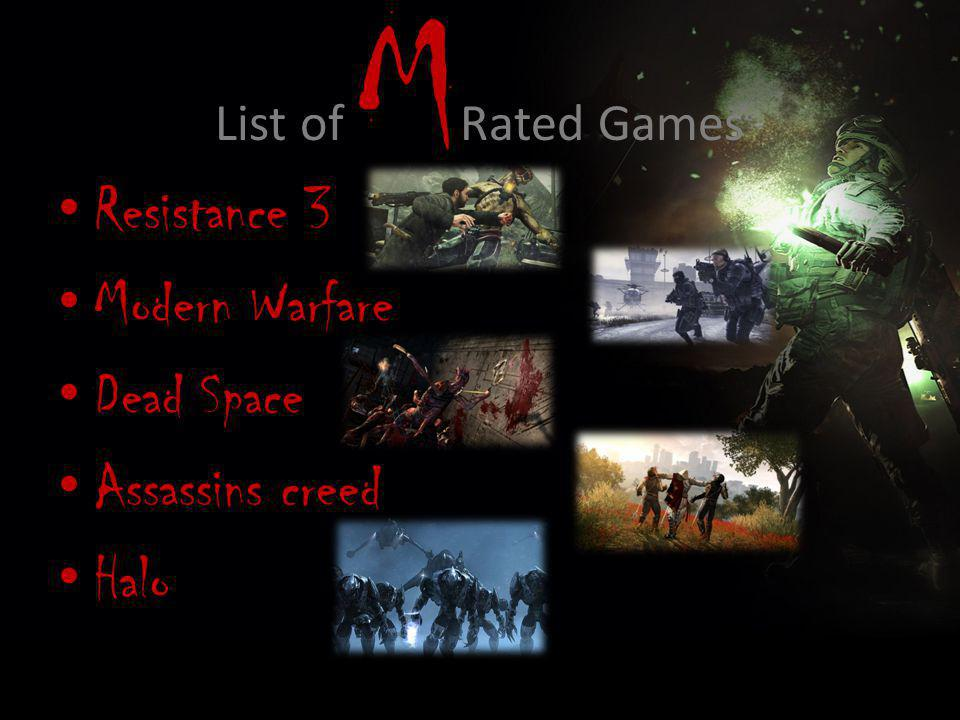 Resistance 3 Rated M for these Reasons: – It's a bloody game that consists of life and death fights for the survival of the human race.