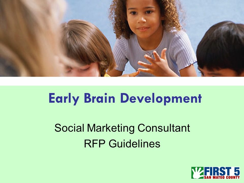 Early Brain Development Social Marketing Consultant RFP Guidelines