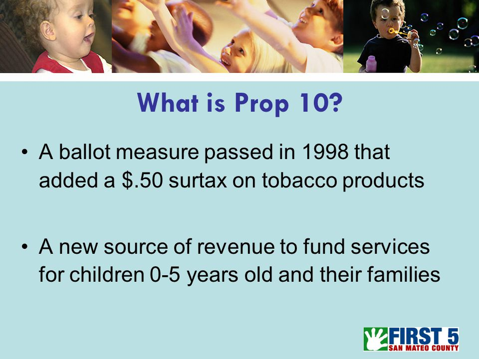 What is Prop 10.