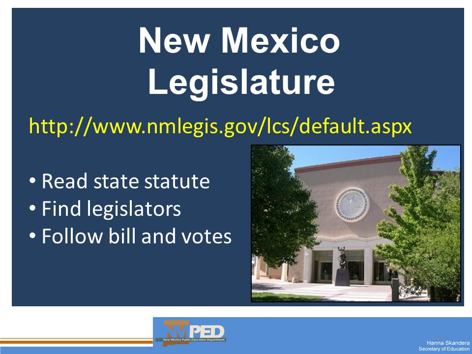 15 New Mexico Legislature   Read state statute Find legislators Follow bill and votes