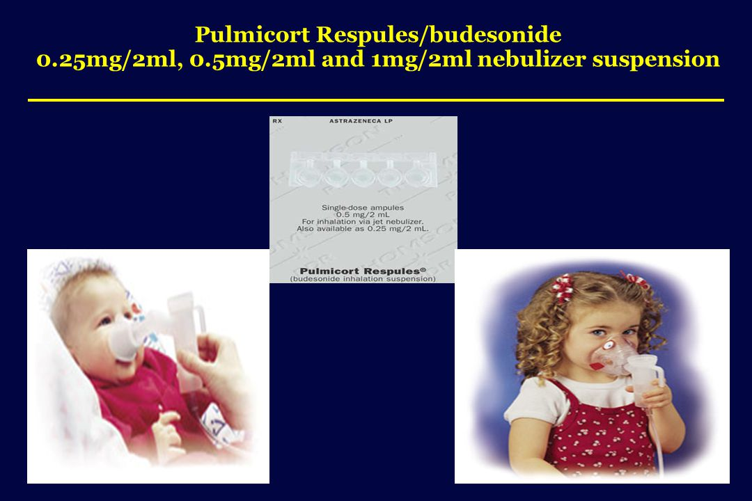 Pulmicort Respules/budesonide 0.25mg/2ml, 0.5mg/2ml and 1mg/2ml nebulizer suspension