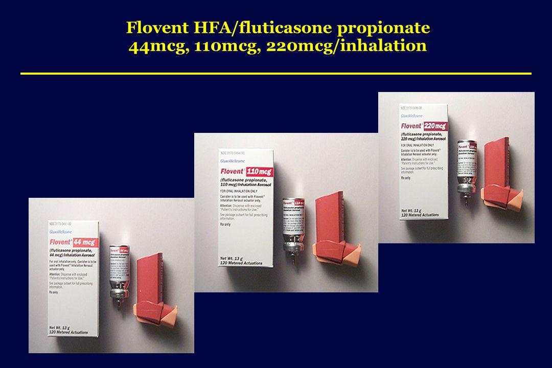 Flovent HFA/fluticasone propionate 44mcg, 110mcg, 220mcg/inhalation