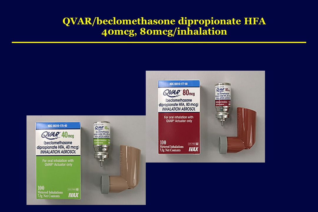 QVAR/beclomethasone dipropionate HFA 40mcg, 80mcg/inhalation