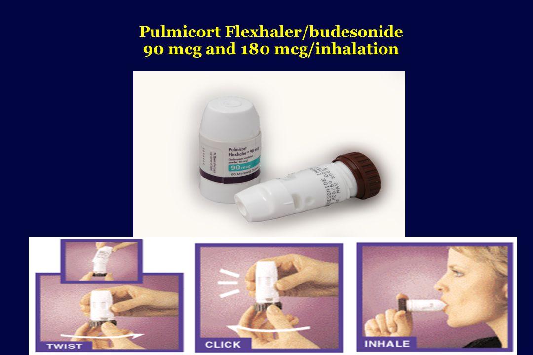 Pulmicort Flexhaler/budesonide 90 mcg and 180 mcg/inhalation